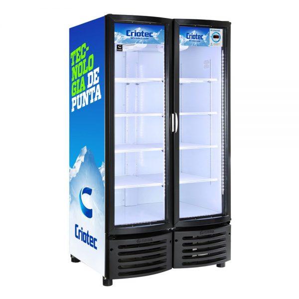Refrigerador vertical CFX acero inoxidable (24 y 37 pies, 2 puertas)
