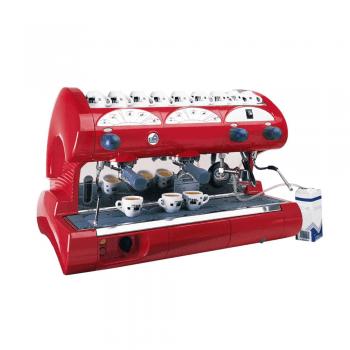 Cafetera automática 2 grupos Bar roja
