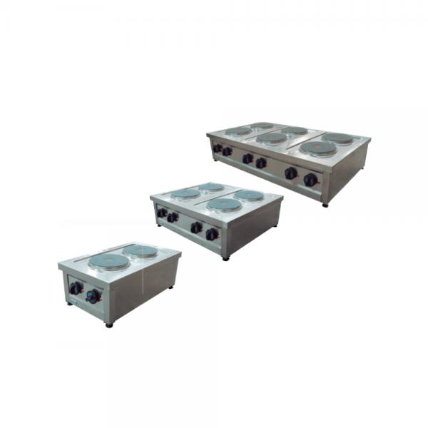 Parrilla eléctrica (con 2, 4 o 6 placas redondas)