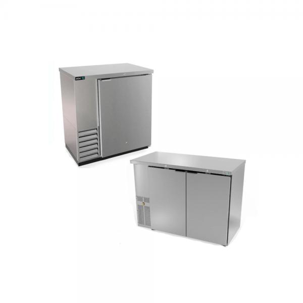 Refrigerador de contra barra en acero inox. (4 ópciones)
