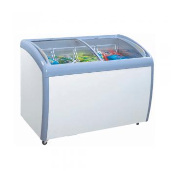Congelador horizontal curvo