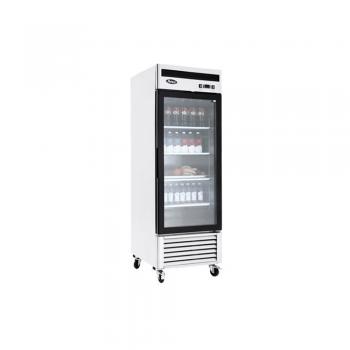 Congelador vertical con 1 puerta de cristal