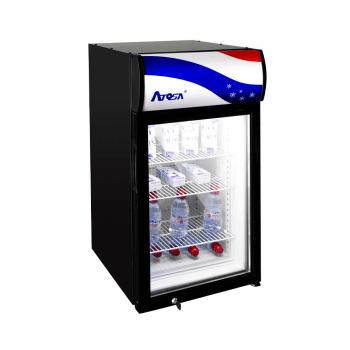 Enfriador vertical con 1 puerta de cristal display 2.4 pies³
