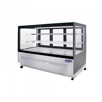 Vitrina refrigerada de piso rectangular 3 puertas