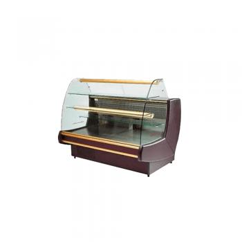 Vitrina pastelera vidrio curvo de (1, 1.5 o 2 m)