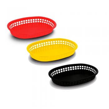 Canasta de plástico oblonga (3 opciones)