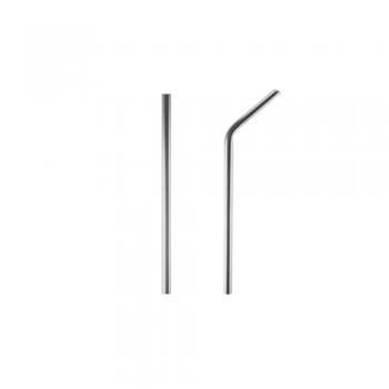Popote ecológico de acero inoxidable 8 mm (2 opciones)