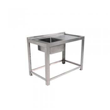 Mesa con tarja (ancho 120 o 150 cm sin entrepaño)